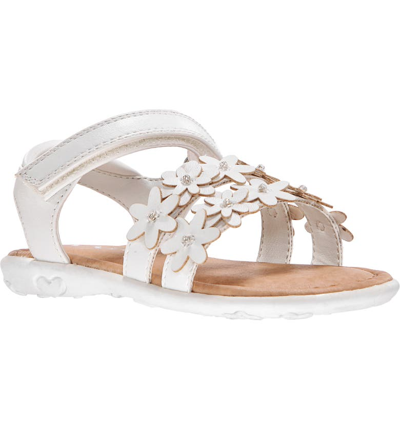 NINA Strappy Sandal, Main, color, WHITE SMOOTH
