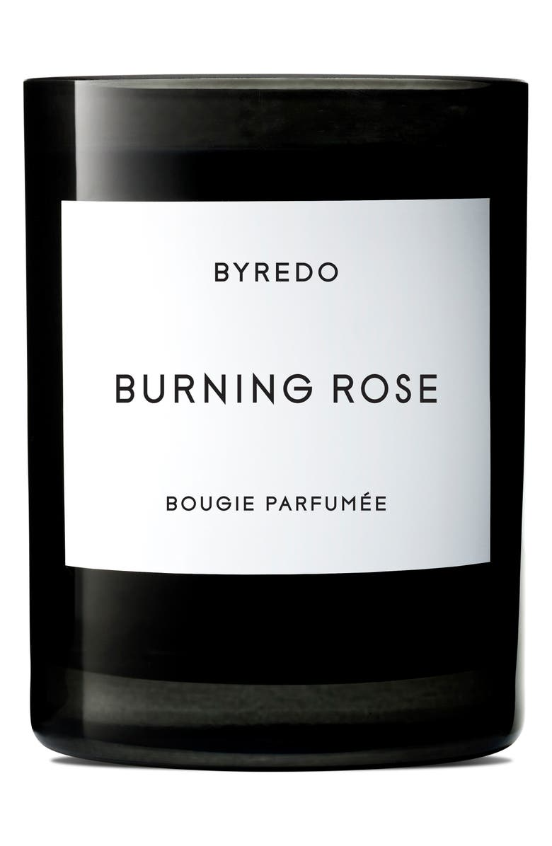BYREDO Burning Rose Candle, Main, color, NO COLOR