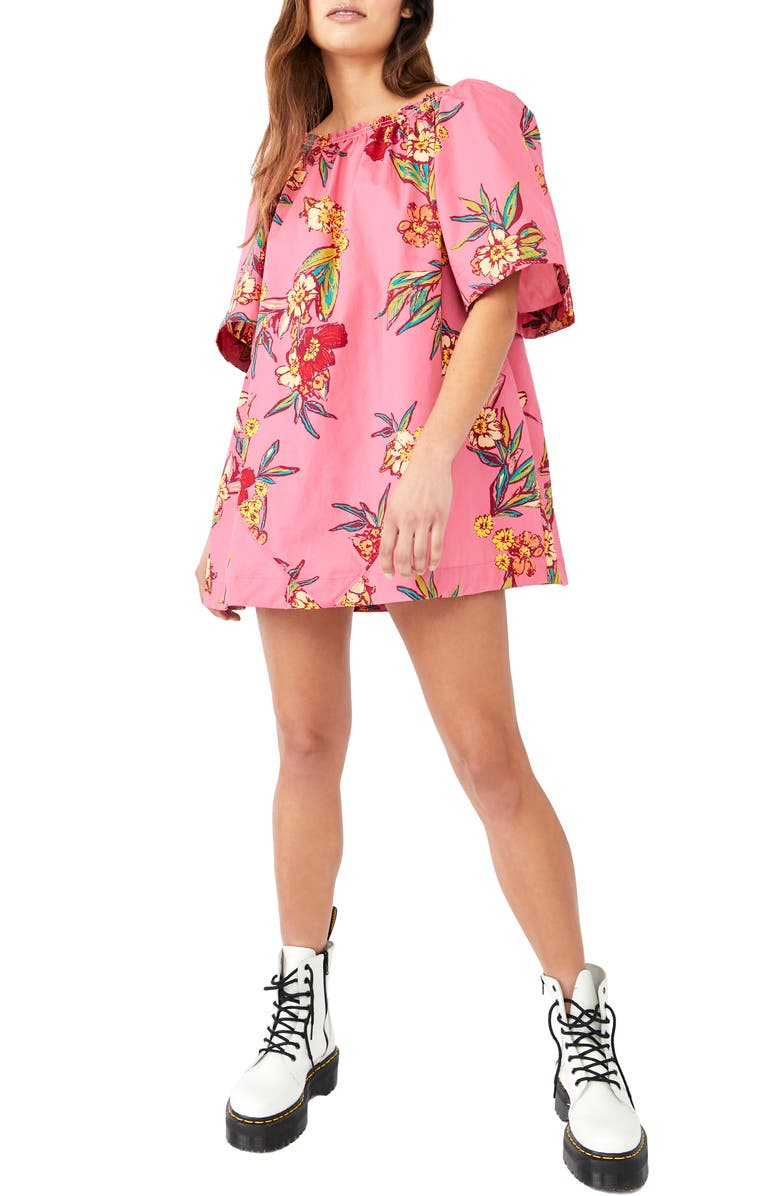 FREE PEOPLE Jodie Floral Cotton Tunic, Main, color, SUNRISE COMBO