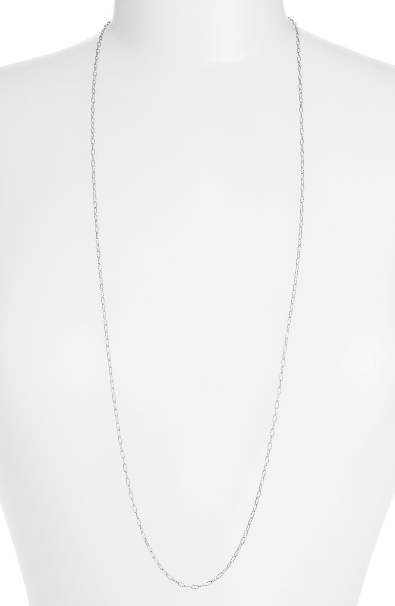 BONY LEVY Textured Chain Long Necklace, Main, color, 710