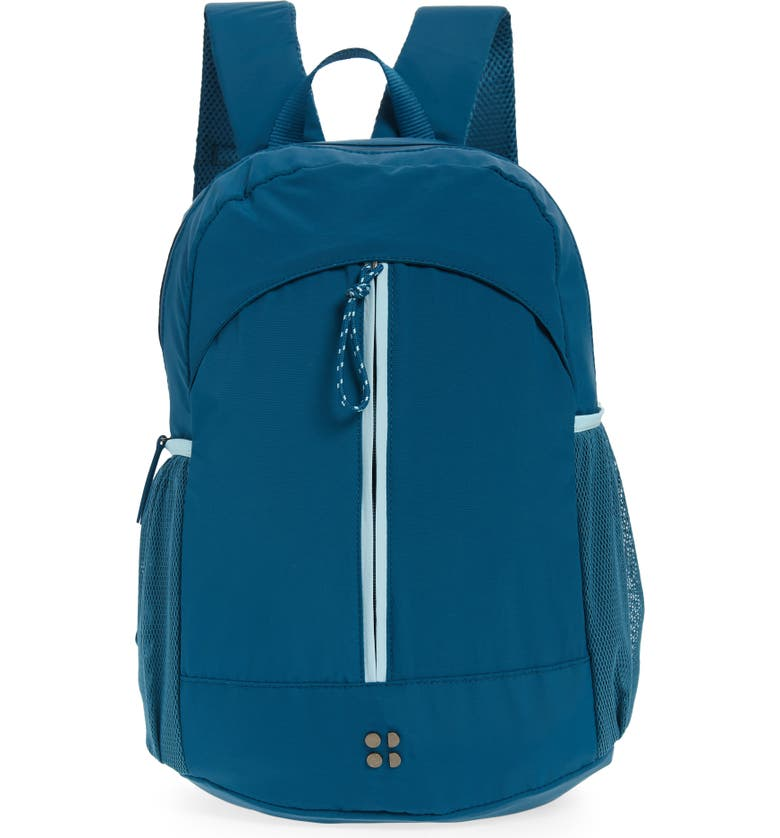 SWEATY BETTY Packaway Hiking Backpack, Main, color, TEAL BLUE