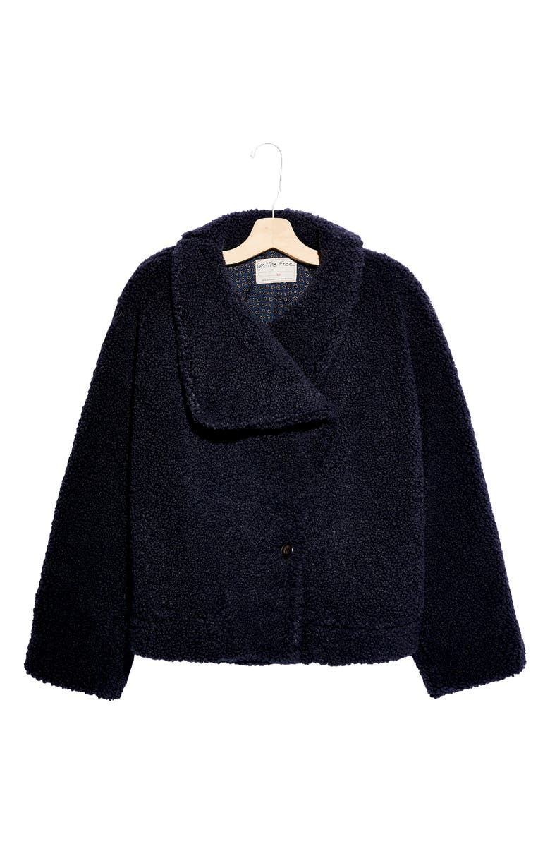 FREE PEOPLE Izzy Wrap Teddy Coat, Main, color, MIDNIGHT