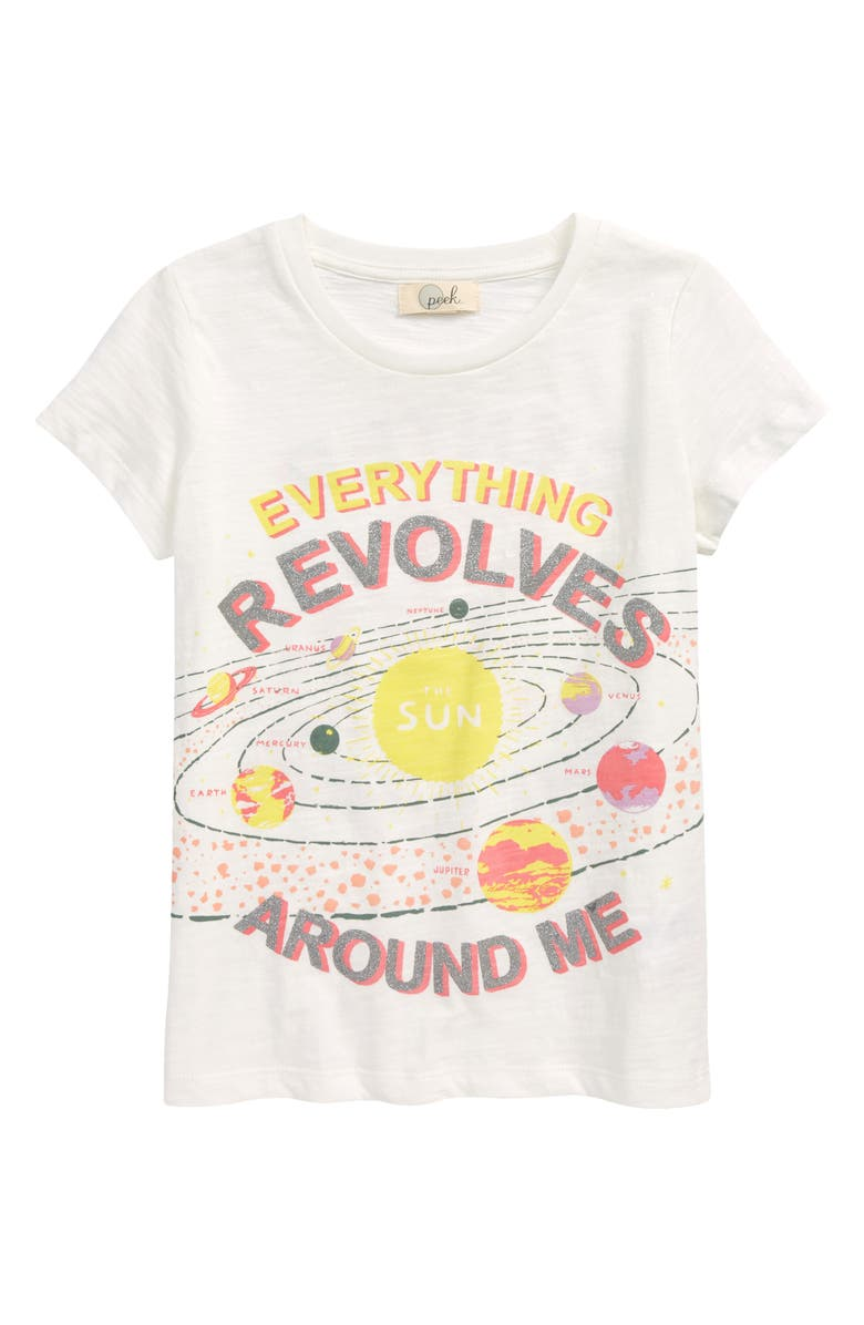 PEEK AREN'T YOU CURIOUS Kids' Lucinda Universe Graphic Tee, Main, color, IVORY