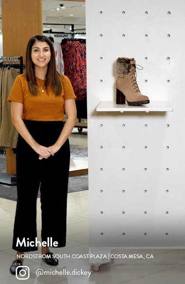 Gutsy Lace-Up Boot with Faux Fur Cuff, sales video thumbnail