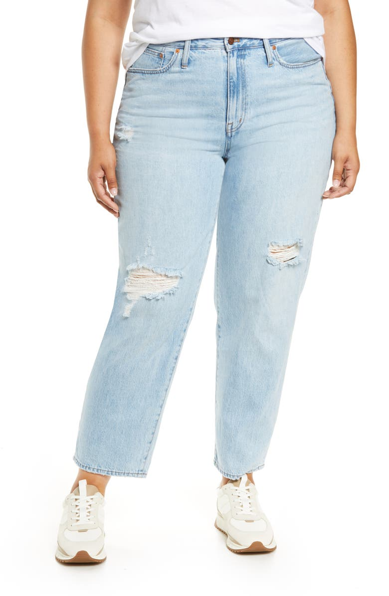 MADEWELL Ripped Relaxed Jeans, Main, color, CRESTHAVEN WASH