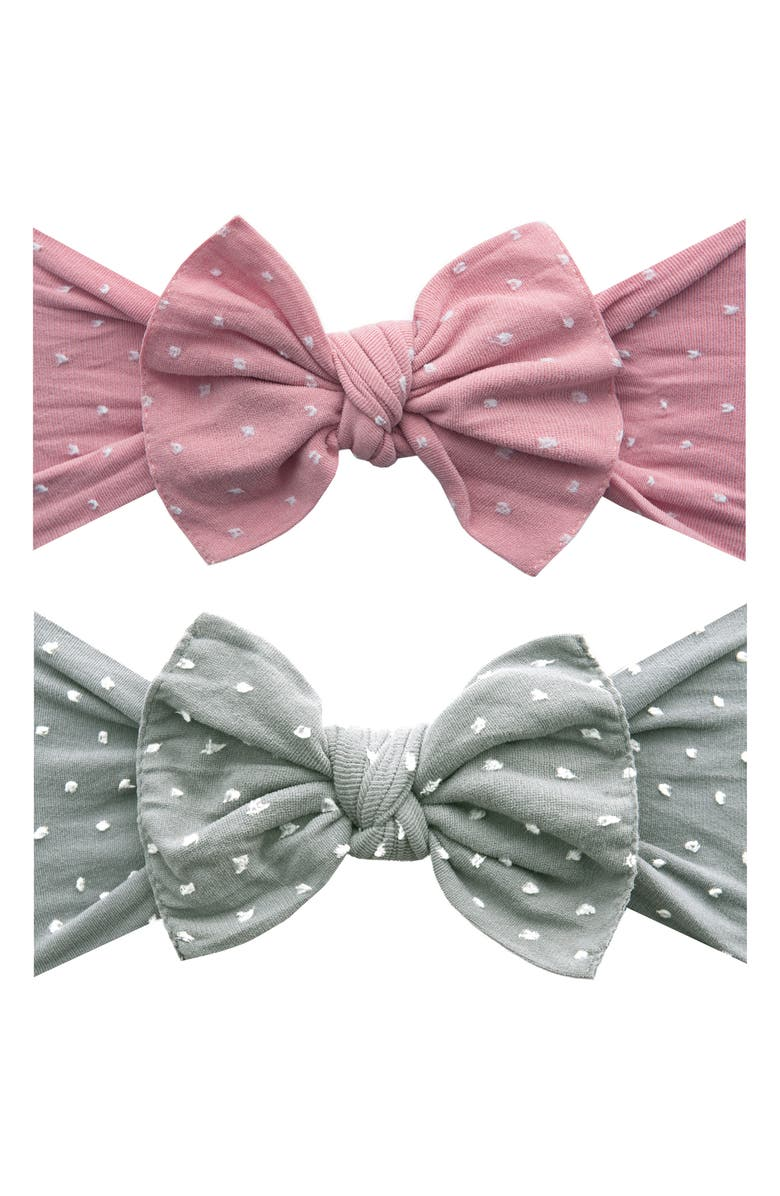 BABY BLING 2-Pack Bow Head Wraps, Main, color, 025