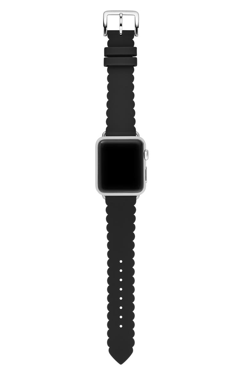 KATE SPADE NEW YORK Apple Watch<sup>®</sup> strap, 38mm, Main, color, BLACK