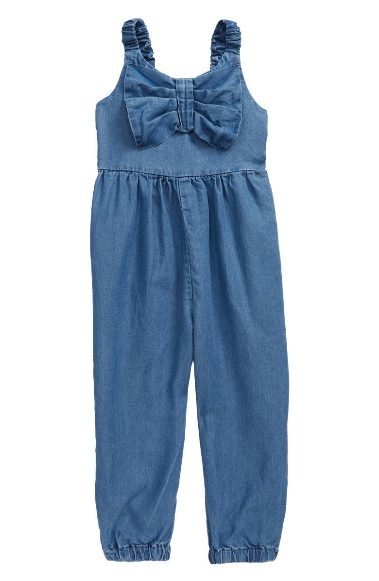HABITUAL GIRL Finley Front Twist Jumpsuit, Main, color, MED STONE