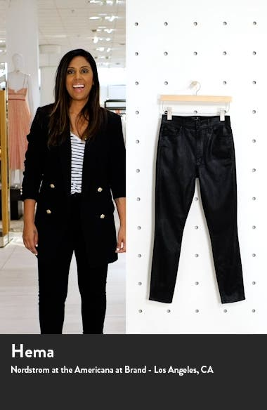 The Swooner High Waist Coated Ankle Skinny Jeans, sales video thumbnail
