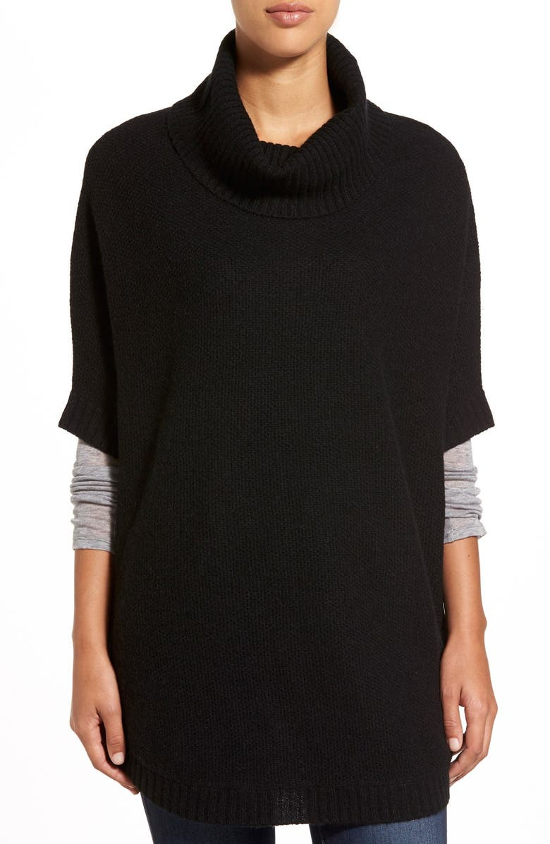 NORDSTROM Cashmere Turtleneck Sweater, Main, color, 001