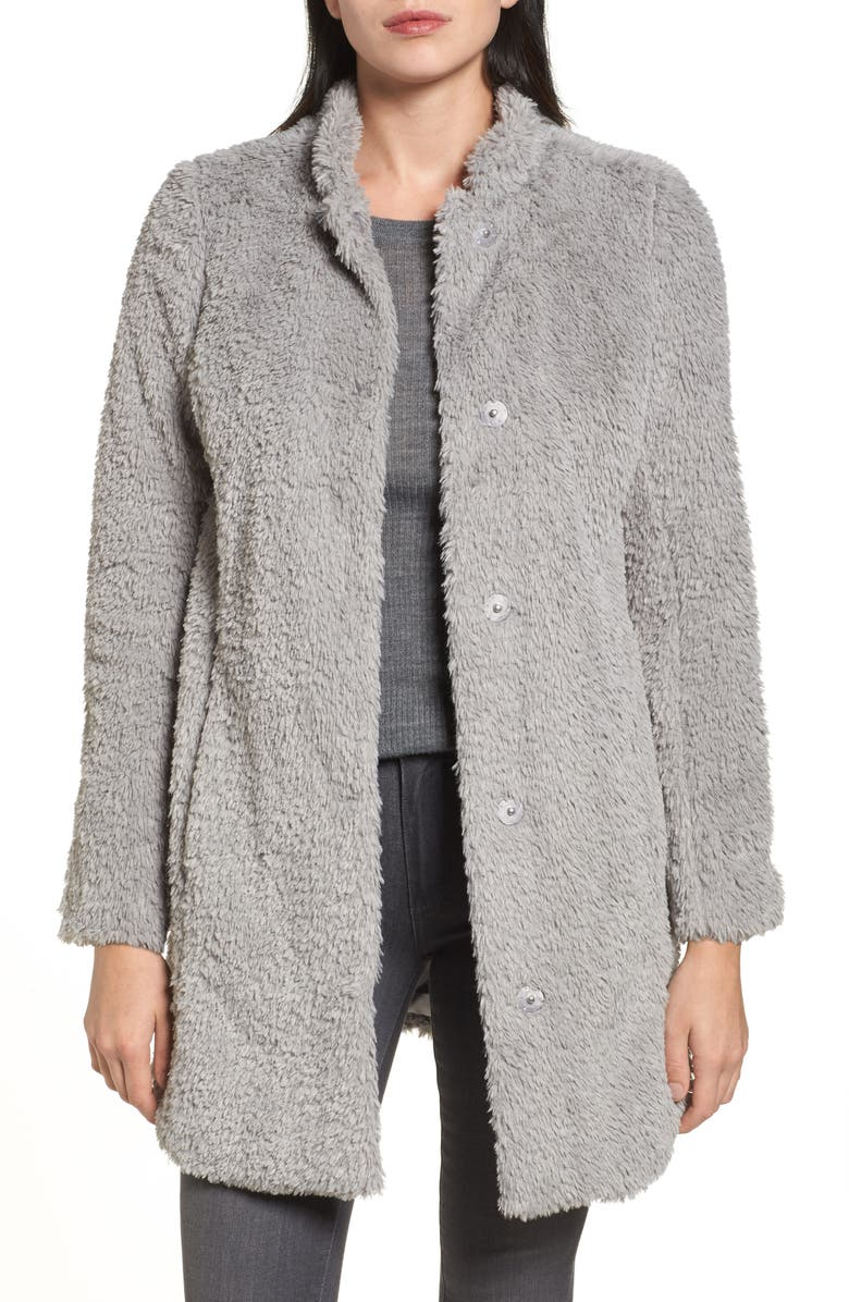 KENNETH COLE NEW YORK Faux Fur Jacket, Main, color, PALE GREY