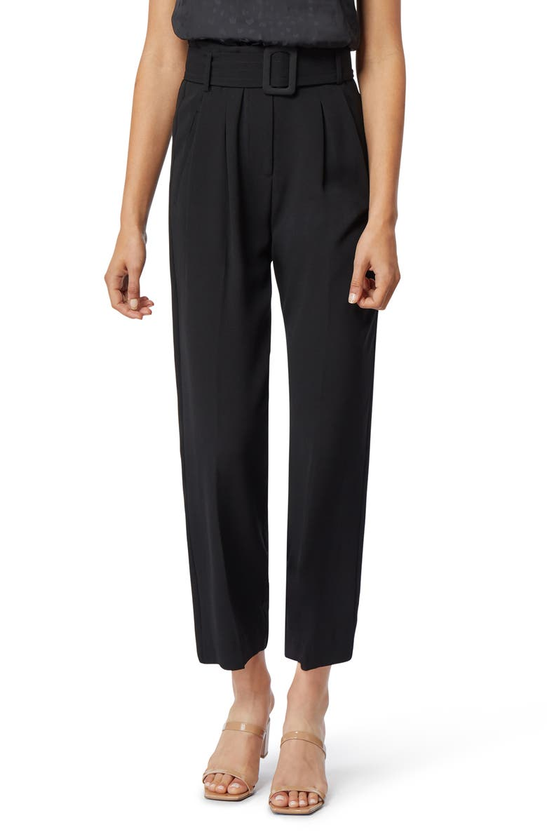 HABITUAL Payton Belted High Waist Ankle Trousers, Main, color, 003