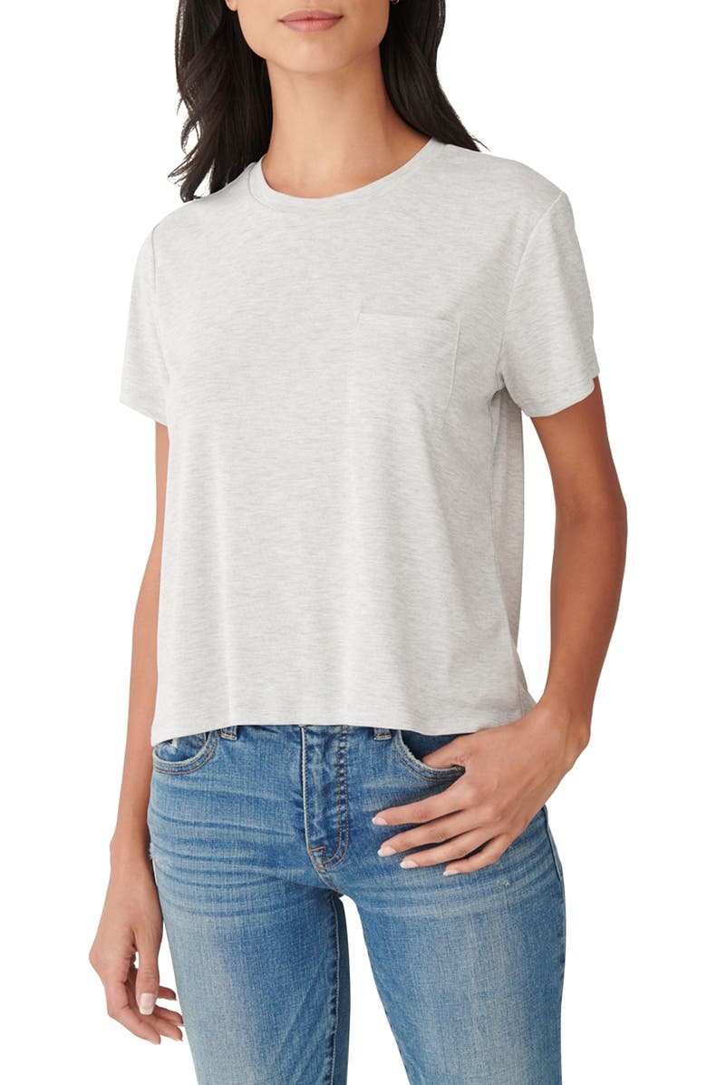 LUCKY BRAND Sandwash T-Shirt, Main, color, HEATHER GREY