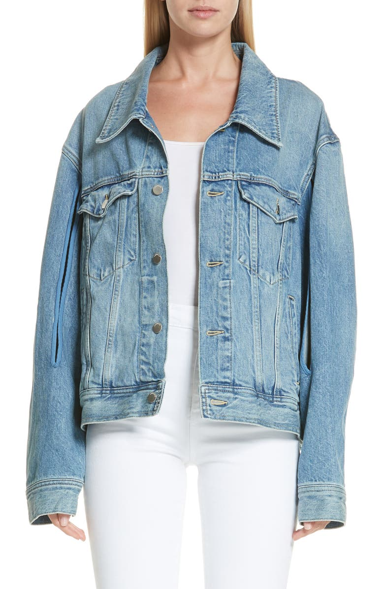 AMBUSH Denim Jacket, Main, color, 400