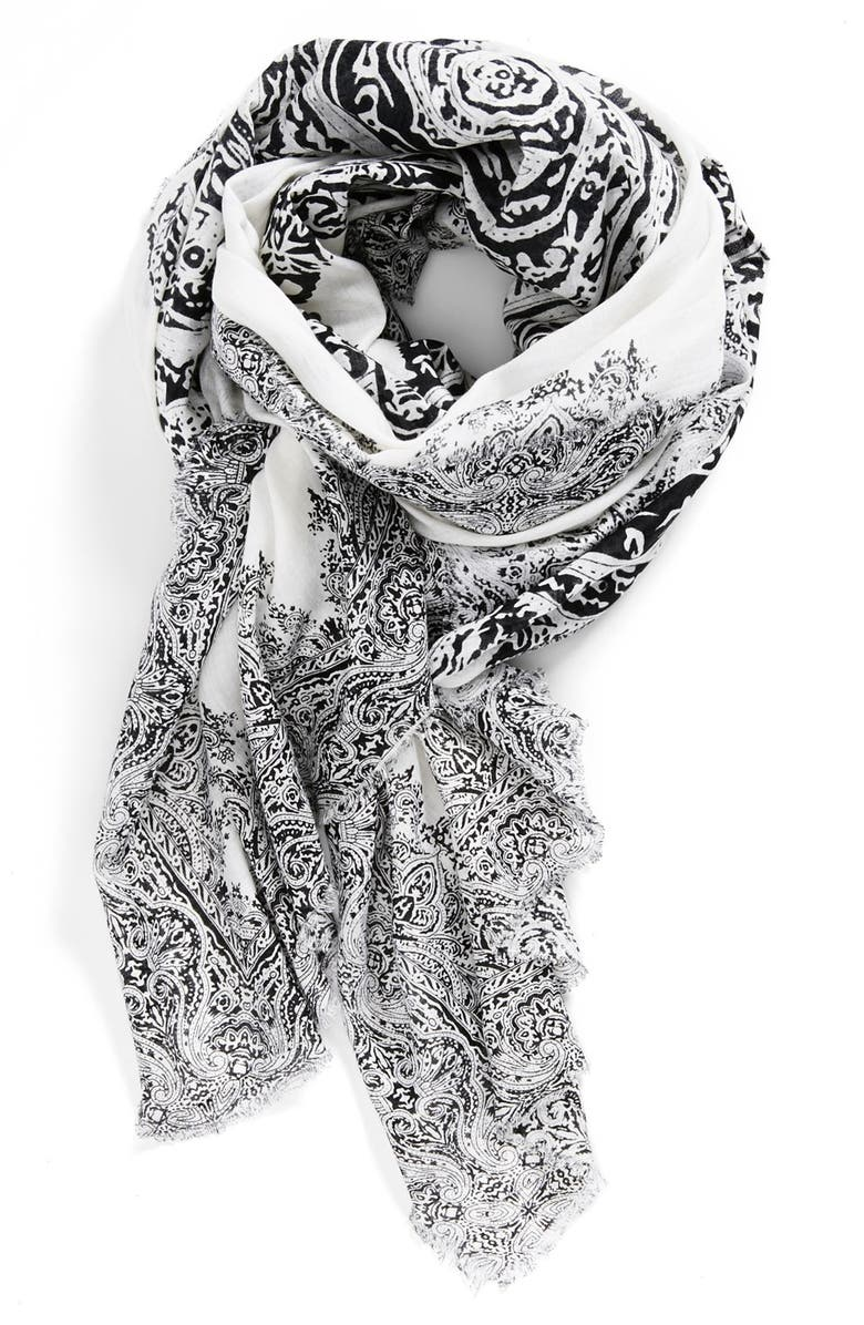 BRAZEN 'Floral Tattoo' Scarf, Main, color, 002