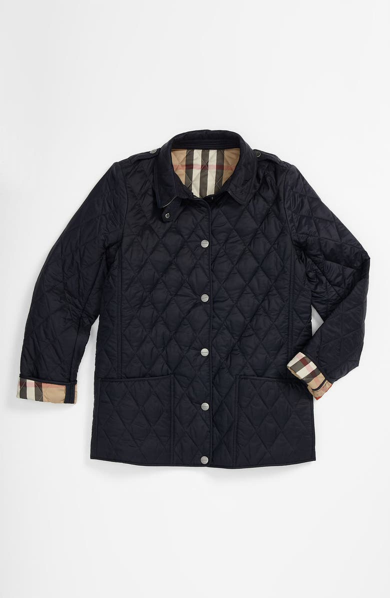 BURBERRY 'Mini Pirmont' Quilted Jacket, Main, color, 411