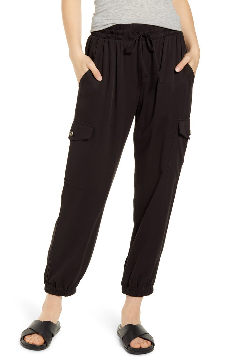 SOCIALITE Twill Jogger Pants, Main, color, 001
