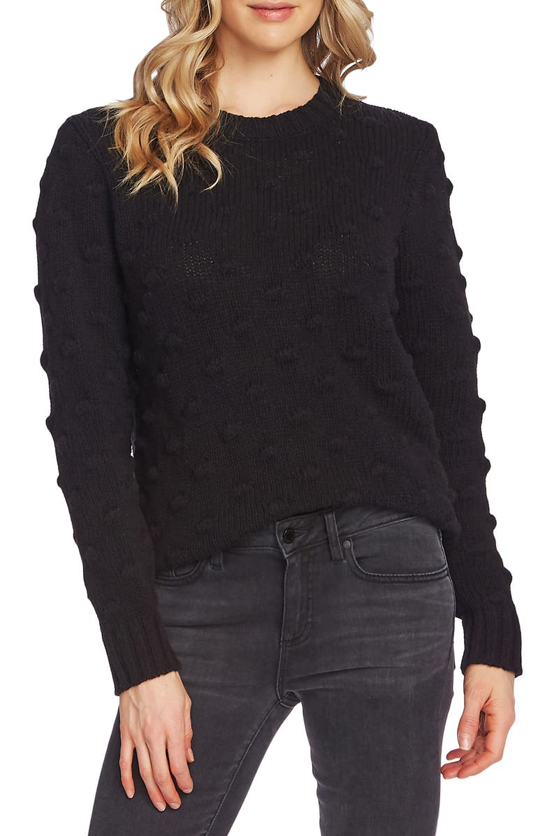 VINCE CAMUTO Cotton Popcorn Sweater, Main, color, 006