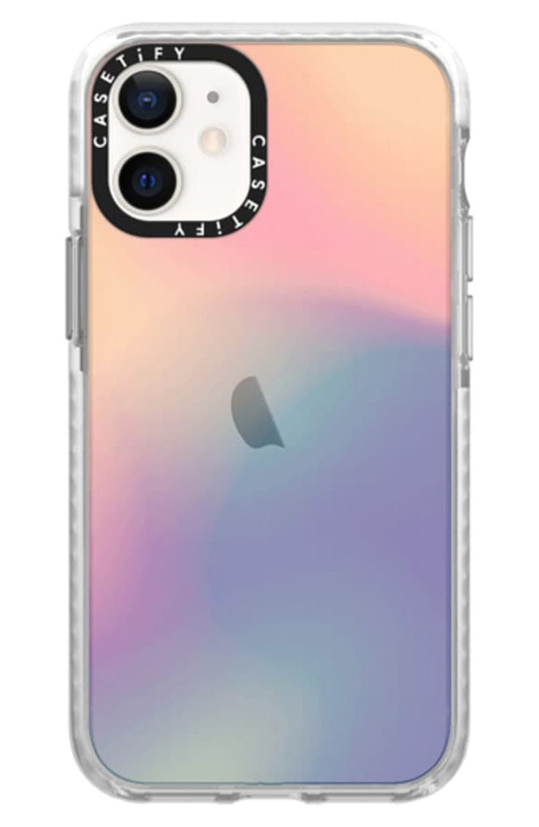 CASETIFY Impact iPhone 12/12 Pro Case, Main, color, SHEER IRIDESCENT