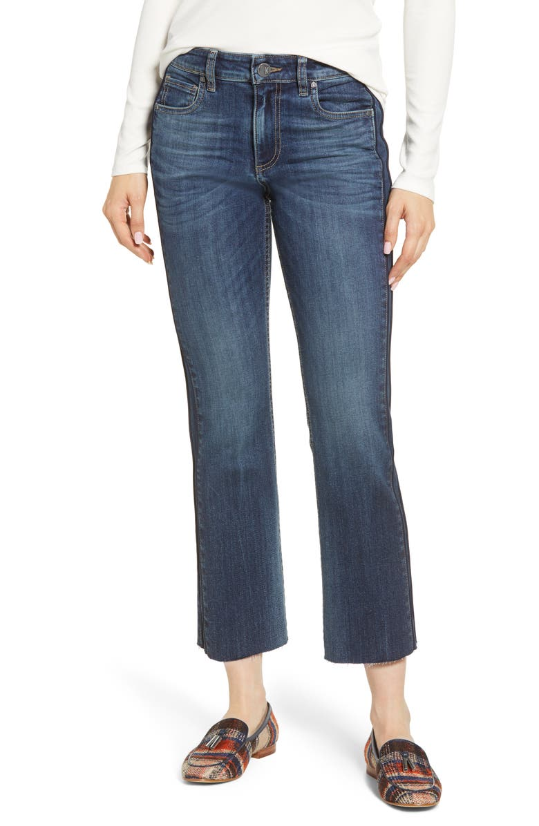 KUT FROM THE KLOTH Side Inset Ankle Flare Jeans, Main, color, 400