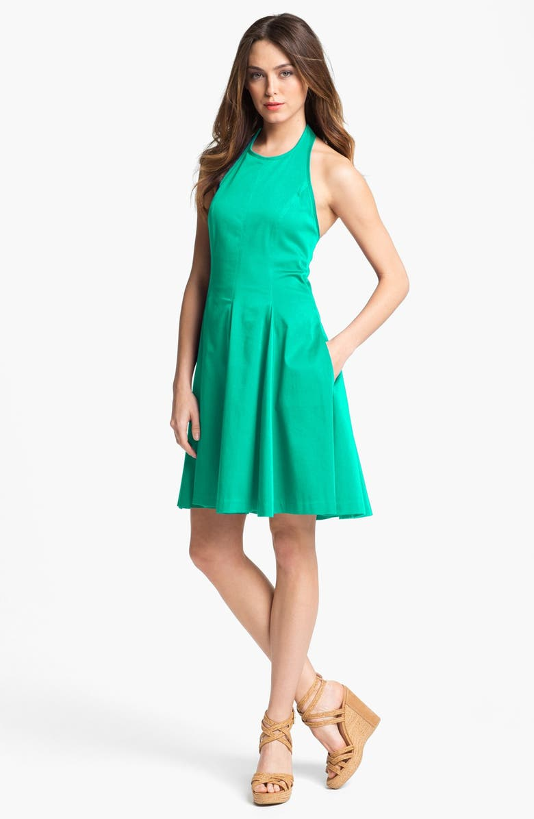 JESSICA SIMPSON Fit & Flare Halter Dress, Main, color, 310
