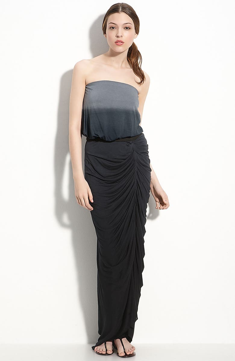 YOUNG, FABULOUS & BROKE 'Tania' Strapless Dress, Main, color, BLACK OMBRE