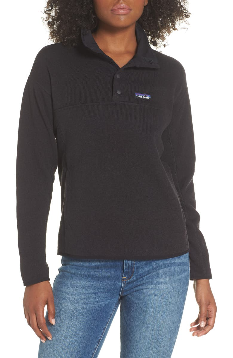PATAGONIA Lightweight Better Sweater<sup>®</sup> Marsupial Fleece Pullover, Main, color, BLACK