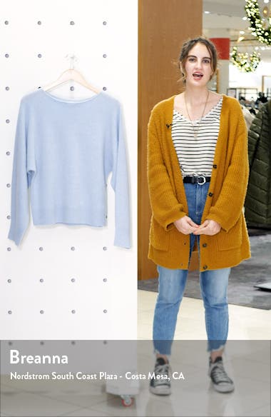 Boat Neck Dolman Sleeve Cashmere Sweater, sales video thumbnail
