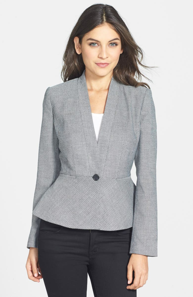 HALOGEN<SUP>®</SUP> One-Button Peplum Jacket, Main, color, 001