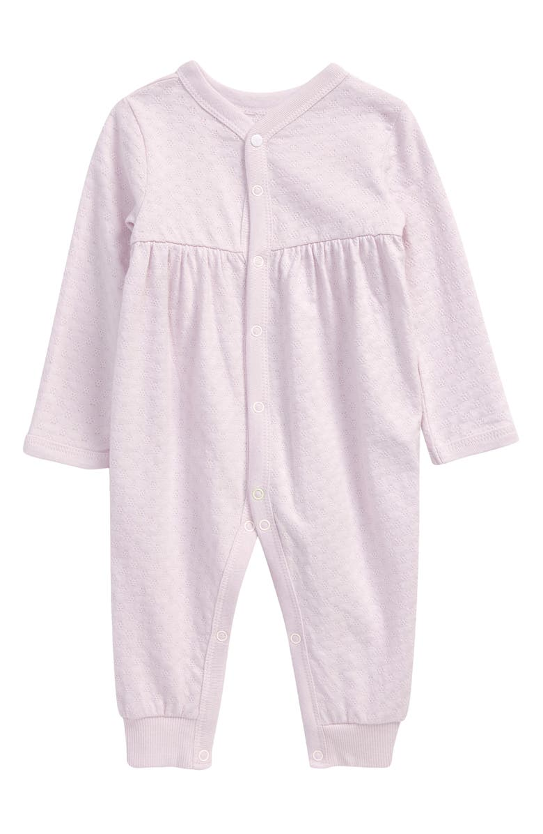 BURT'S BEES BABY Honeycomb Pointelle Organic Cotton Romper, Main, color, 539