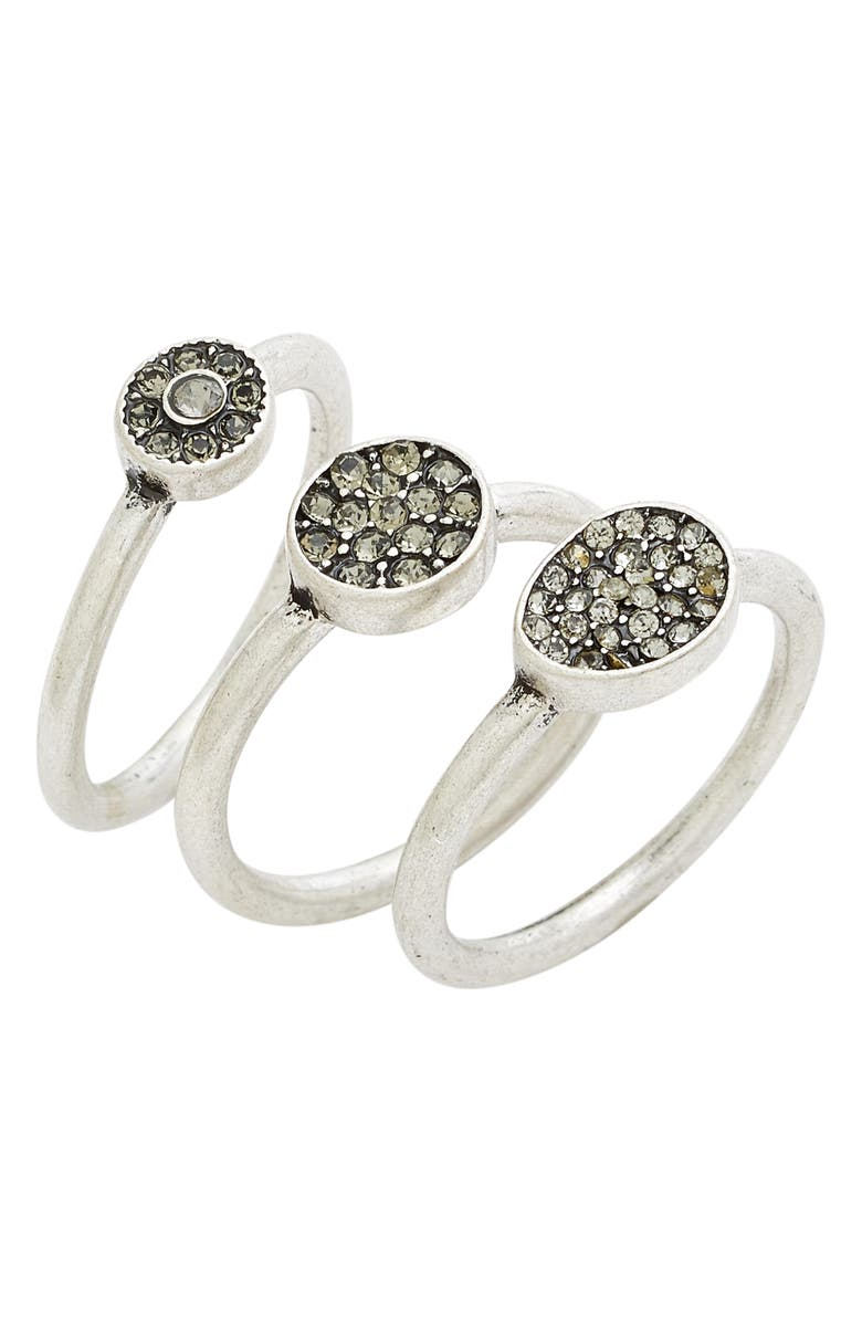 TREASURE & BOND Treasure&Bond Pavé Crystal Rings, Main, color, 040