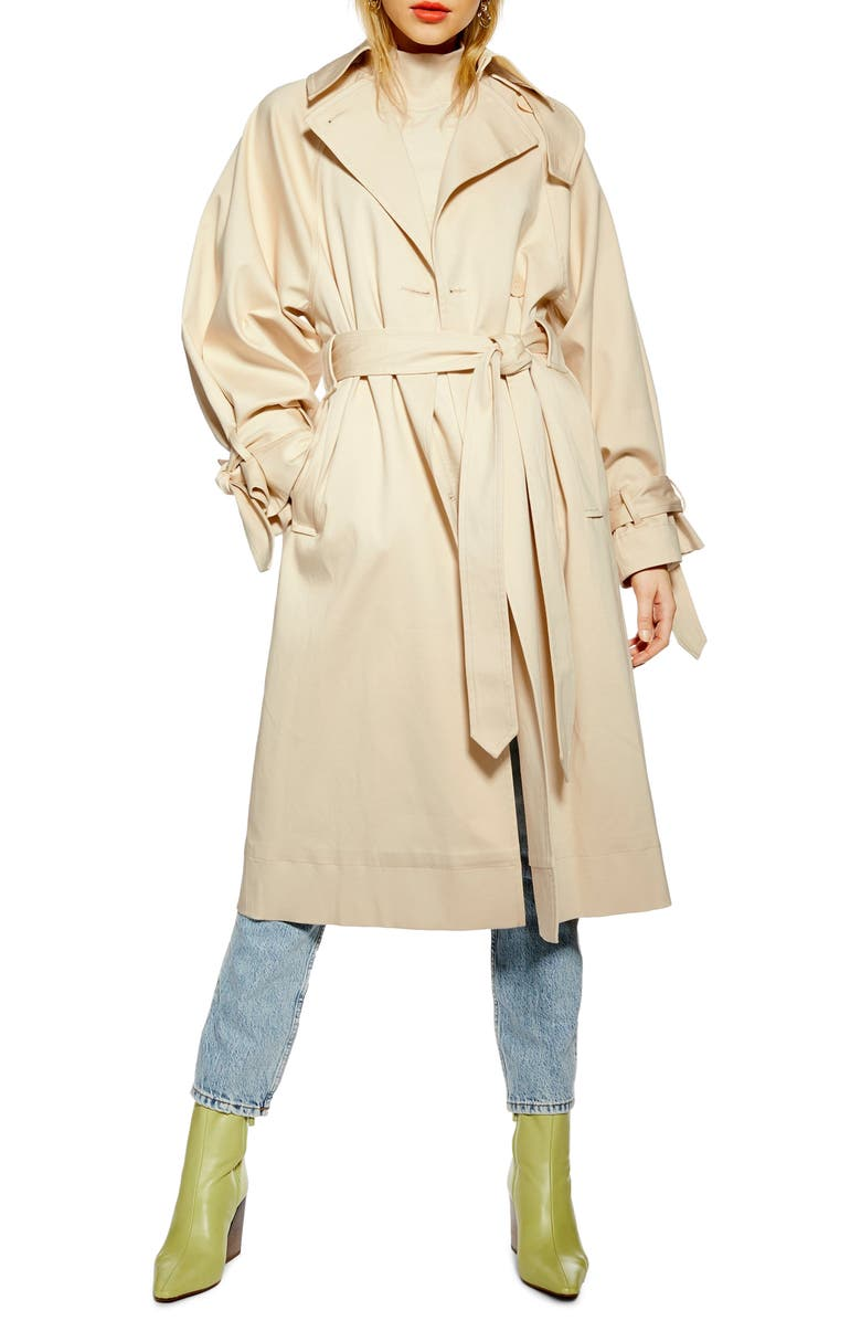 TOPSHOP Ultimate Trench Coat, Main, color, 101