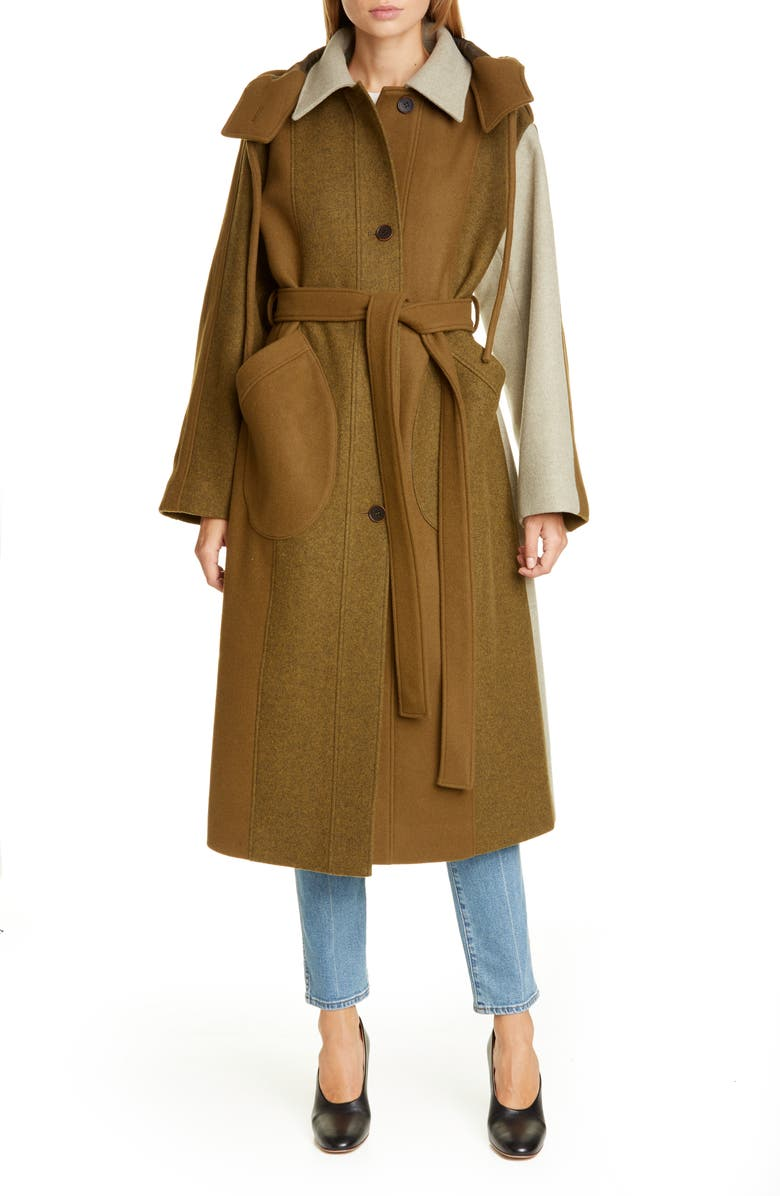 REJINA PYO Charlie Hooded Wool Coat, Main, color, 300