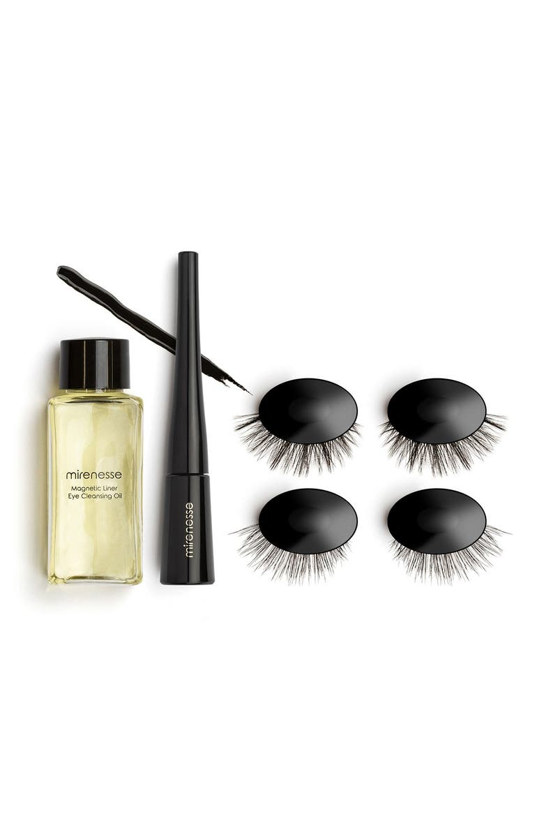 MIRENESSE Magnomatic Magnetic Eyeliner w/ Reuseable Magnetic Lashes Day & Night Kit - Dramatic Marilyn, Main, color, NO COLOR