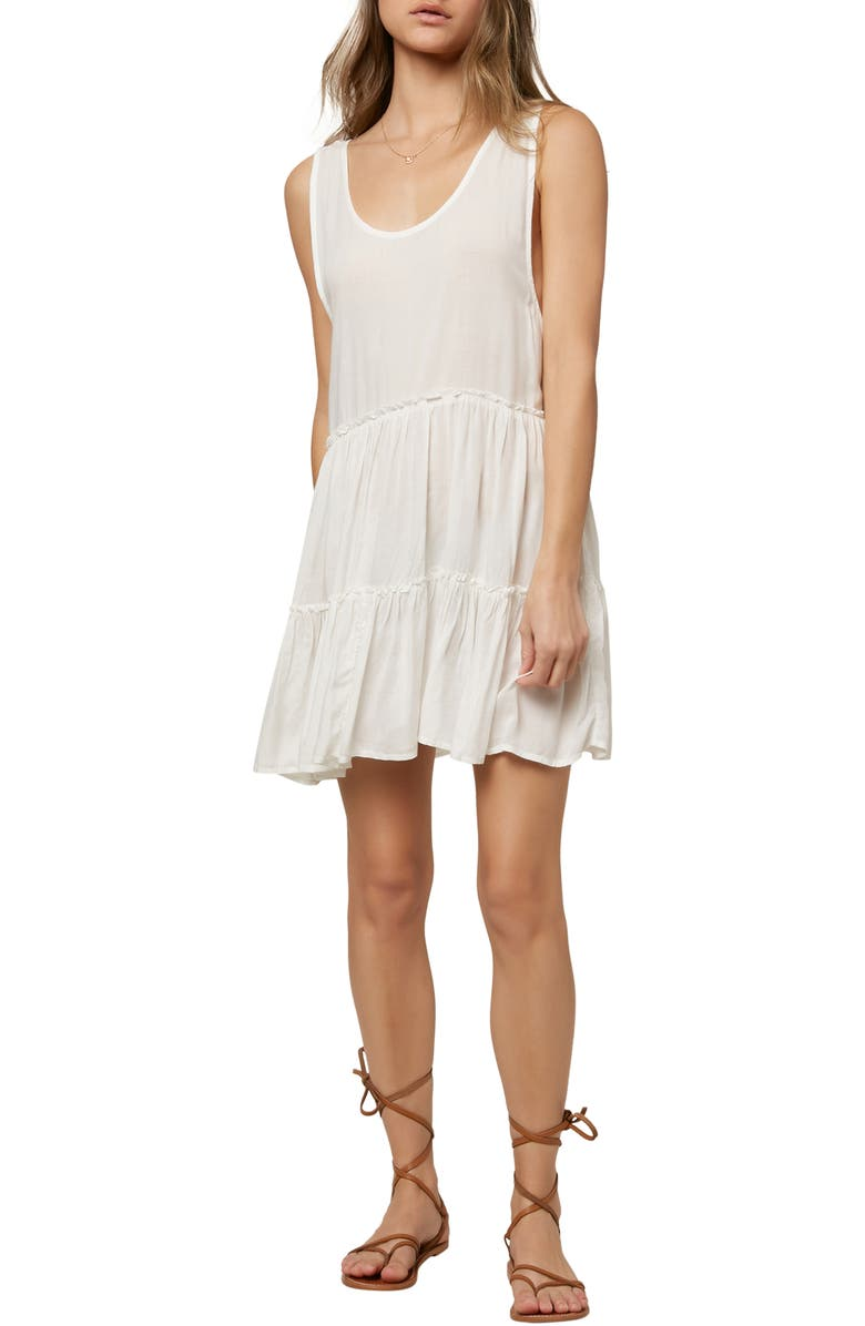 O'NEILL Linnet Sleeveless Cover-Up Minidress, Main, color, VANILLA