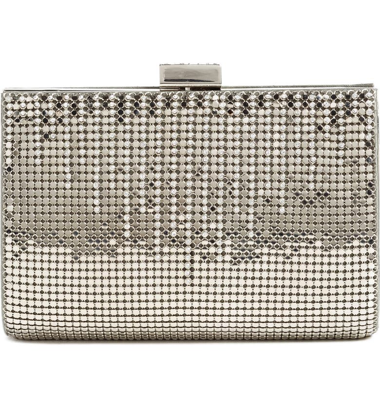 WHITING & DAVIS 'Diamond Drips' Evening Clutch, Main, color, PEWTER