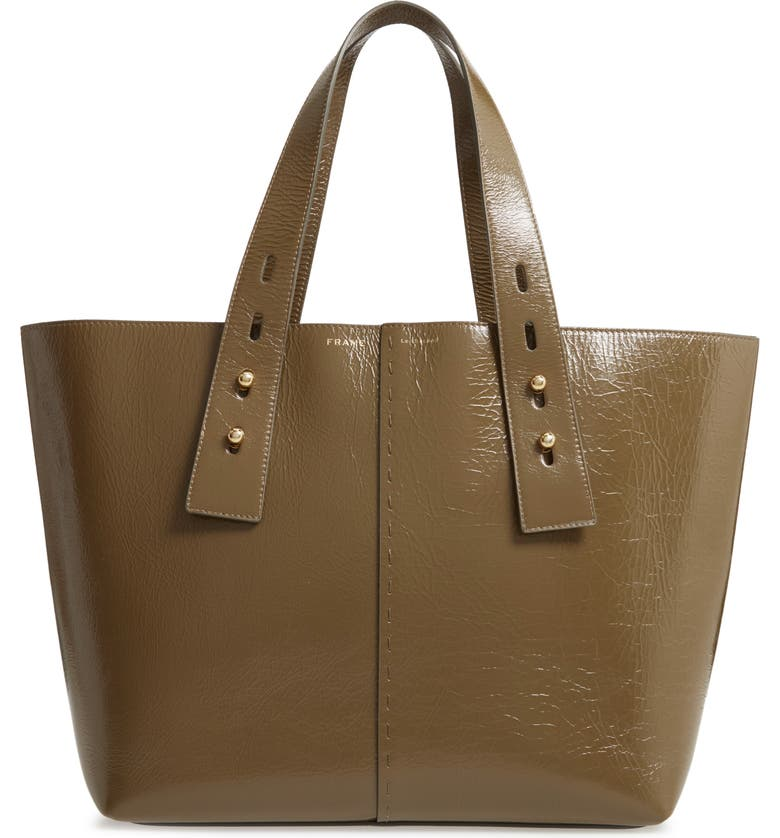 FRAME Medium Les Second Calfskin Leather Tote, Main, color, 300