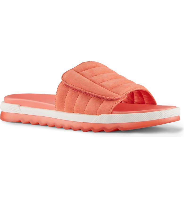 COUGAR LUPIN SANDAL, Main, color, CORAL SUEDE