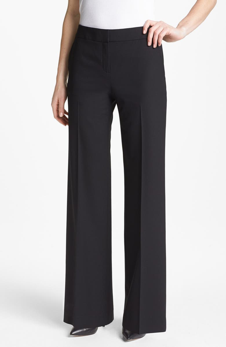 LAFAYETTE 148 NEW YORK 'Delancey' Stretch Wool Pants, Main, color, 001