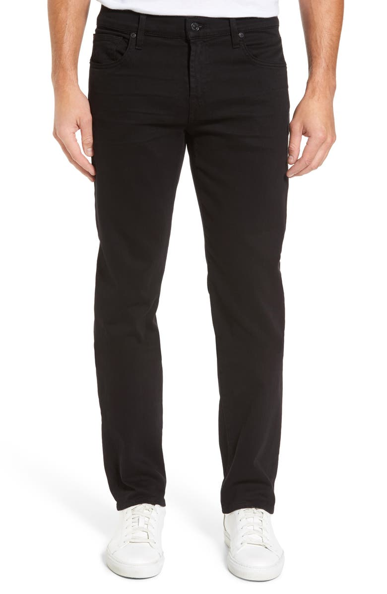 7 FOR ALL MANKIND<SUP>®</SUP> The Standard Luxe Performance Straight Leg Jeans, Main, color, ANNEX BLACK