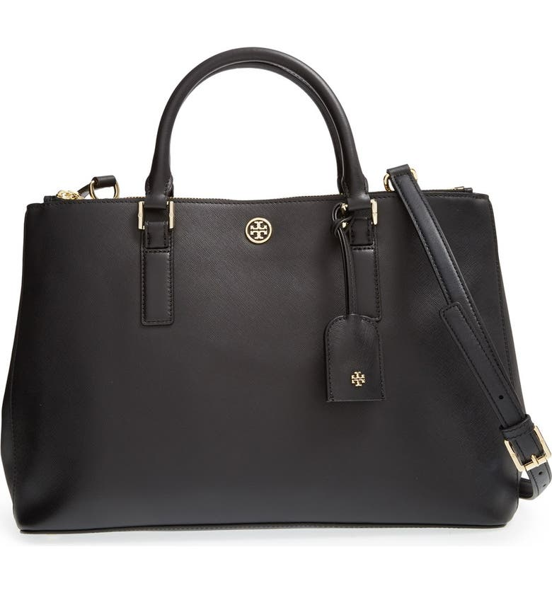 TORY BURCH 'Robinson' Double Zip Tote, Main, color, 001