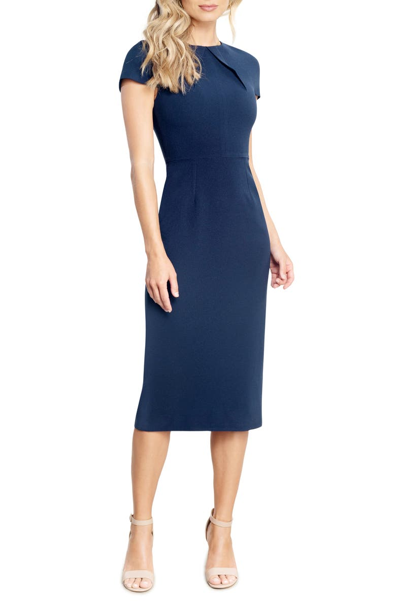 DRESS THE POPULATION Lainey Body-Con Dress, Main, color, NAVY