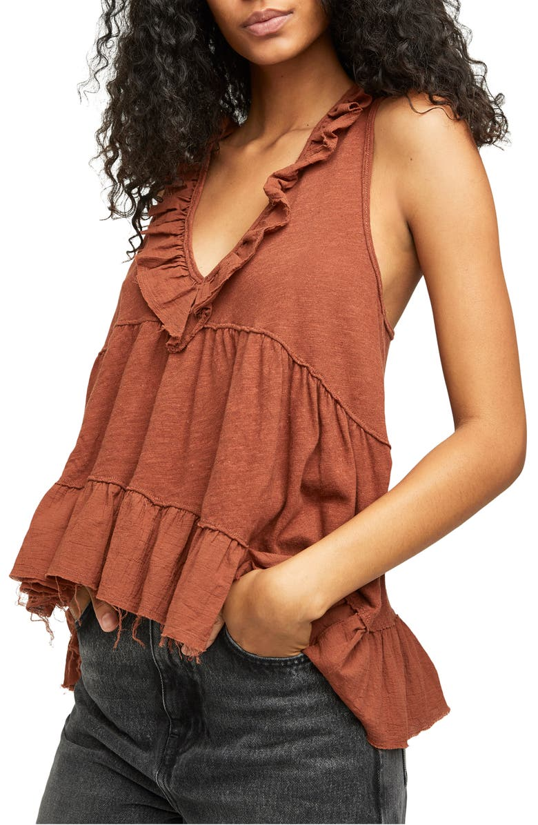 FREE PEOPLE Out & About Tank, Main, color, PETRICHOR