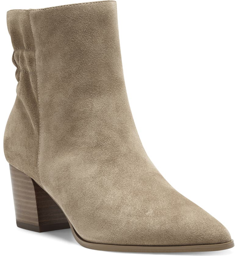 SOLE SOCIETY Maeryn Pointed Toe Bootie, Main, color, HONEY SUEDE