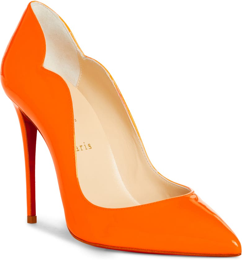CHRISTIAN LOUBOUTIN Hot Chick Fluorescent Patent Leather Pump, Main, color, FIZZ