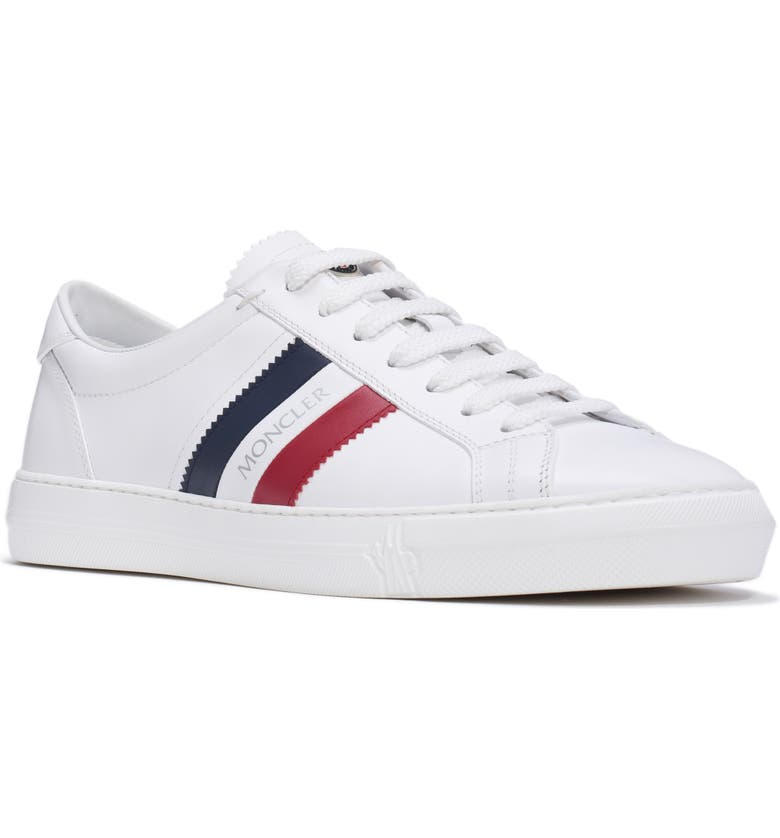 MONCLER New Monaco Low Top Sneaker, Main, color, WHITE/ WHITE