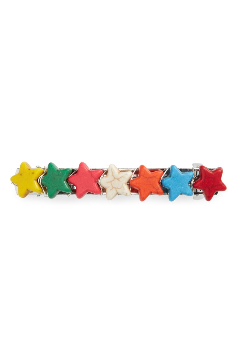 TIMELESS PEARLY Stars Howlite Barrette, Main, color, 600