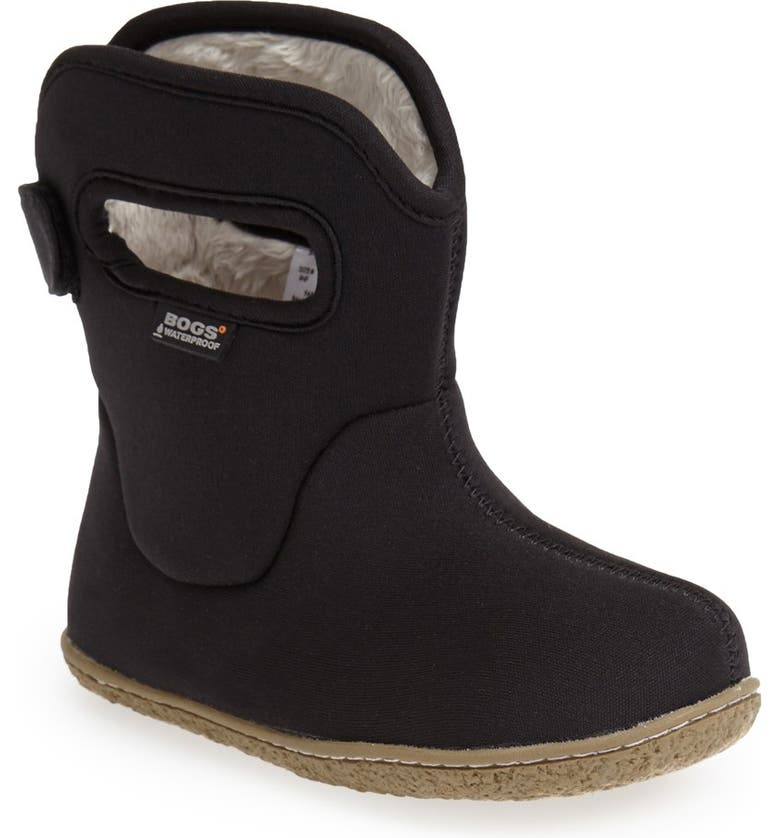 BOGS Baby Bogs Insulated Waterproof Rain Boot, Main, color, BLACK