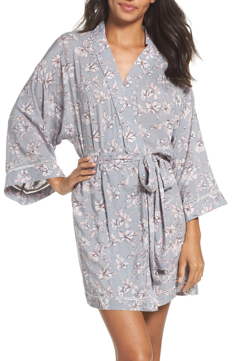 NORDSTROM LINGERIE Sweet Dreams Print Robe, Main, color, 050