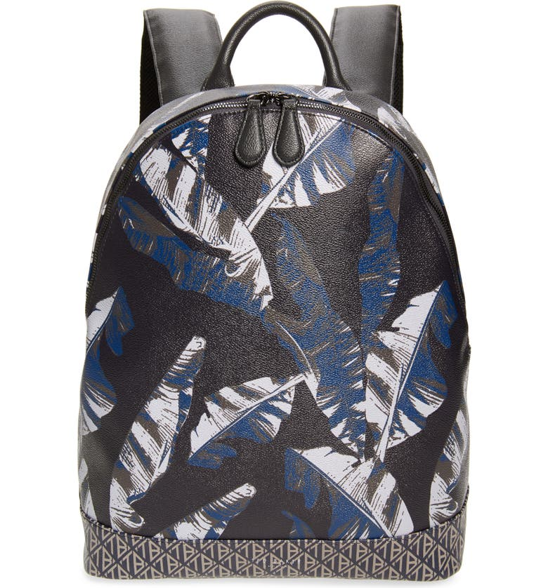 TED BAKER LONDON Faux Leather Print Backpack, Main, color, 410